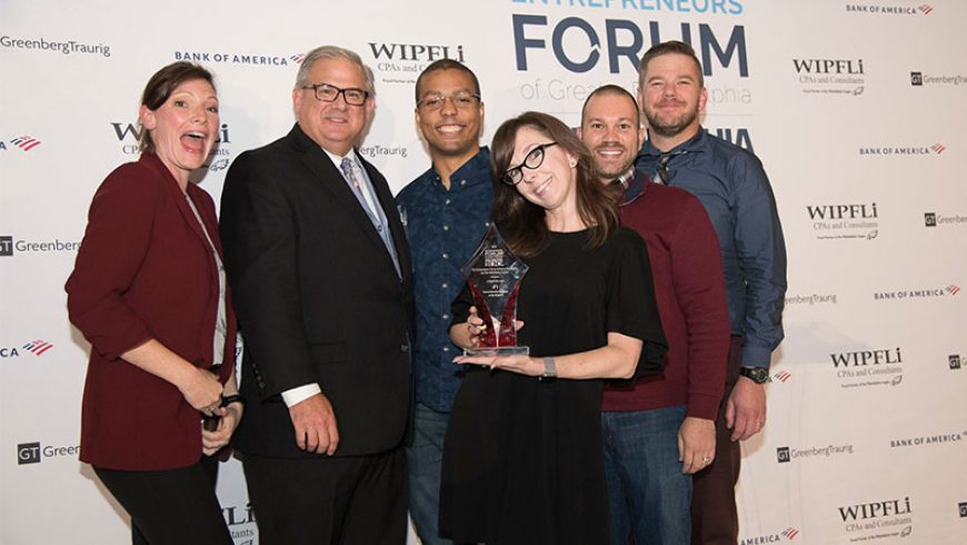 PHILADELPHIA INQUIRER AND ENTREPRENEURS' FORUM OF GREATER PHILADELPHIA CELEBRATE LEADING AREA COMPANIES