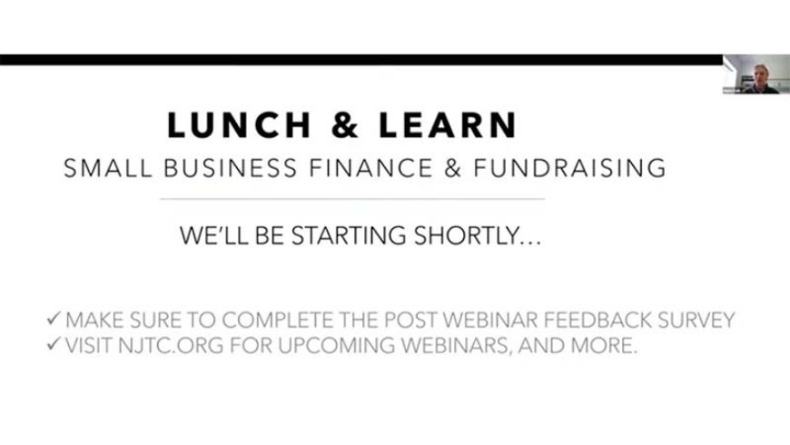 Lunch and Learn Webinar: Small Business Finance and Fundraising