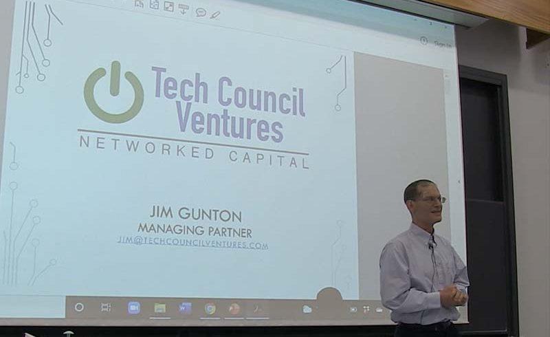 "Jim Gunton teaches Dr. Shahram Hejazi's ""VC and Entrepreneurialism"" class at Princeton University"